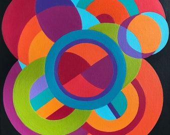 Celebration-  bright and colourful geometrical artwork