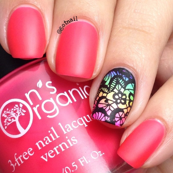 MATTE Pink Nail Polish - Neon Pink Nail Polish - Glow in the Dark ...
