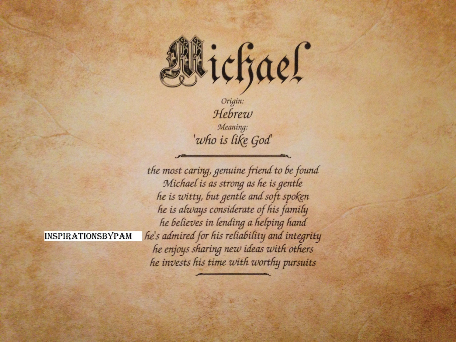 Michael first name meaning art print name meaning zoom negle Image collections