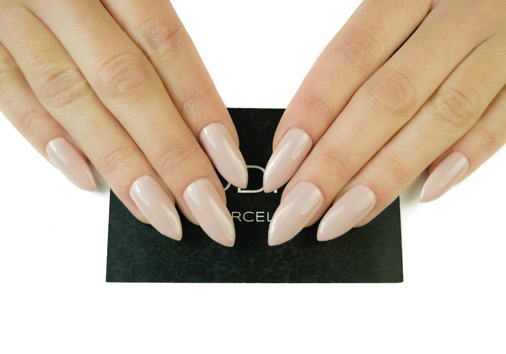 Nude Nails Made With Uv Gel | Press On Nails | Glossy Finish | Fake ...