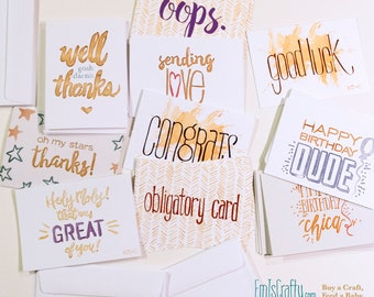 Bulk Greeting Cards. Lot, Assortment, Pack, 25 Greeting Cards. Birthday, Bday, Thank You, Thanks, Congrats, Apology.