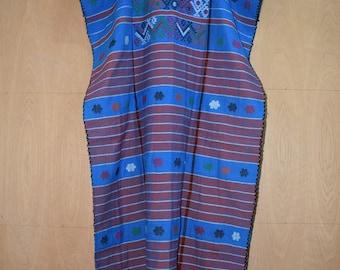 Mexican dress, huipil bordado, Oaxaca dress, hippie dress, boho long dress, long dress , folk long dress, white huipil