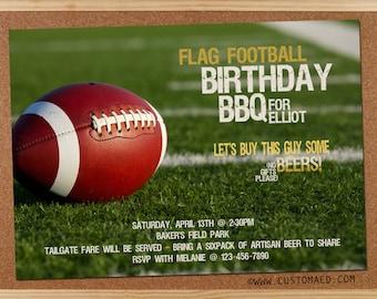 Football birthday invitation football birthday party birthday flag football invitation man boyfriend masculine macho beer filmwisefo Gallery
