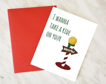 funny christmas card dirty christmas card couple christmas card card for boyfriend