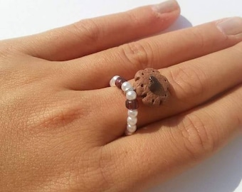 Snap ring with dolcetto fimo