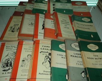 Set of 50 Vintage Penguin Paperbacks