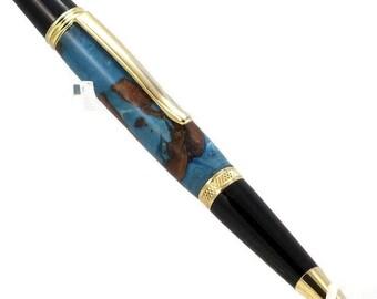 Mixed Media Sierra Style Pen, Maple Bark and Acrylic
