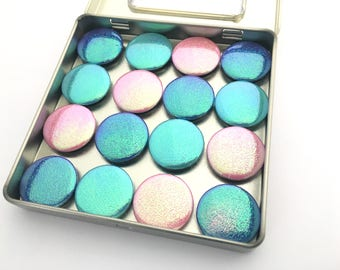 Iridescent Magnet Set - Available in Pink, Teal and Blue or Any Combination