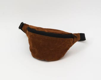 Hip Bag / Hüfttasche FAKE SUEDE (VEGAN) dark brown