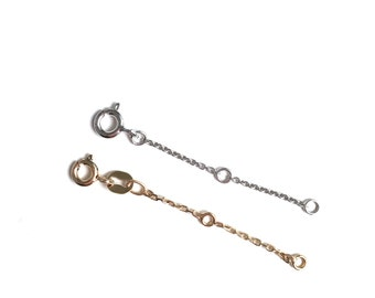 Chain extender on sterling silver or goldfill