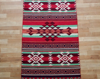 Kilim Runner Rug - Brand New Reversible Turkish Kilim Runner Rug - Wall Hanging or Throw