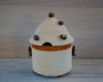 Vintage Ceramic Honey Pot from 1940's