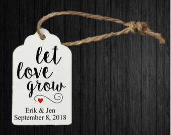Let Love Grow - Personalized Wedding Favors Tags