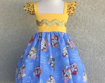 Beauty and the Beast Belle Brains Beauty and Sparkle Princess Hattie Dress