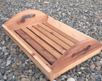 Rustic cedar tray