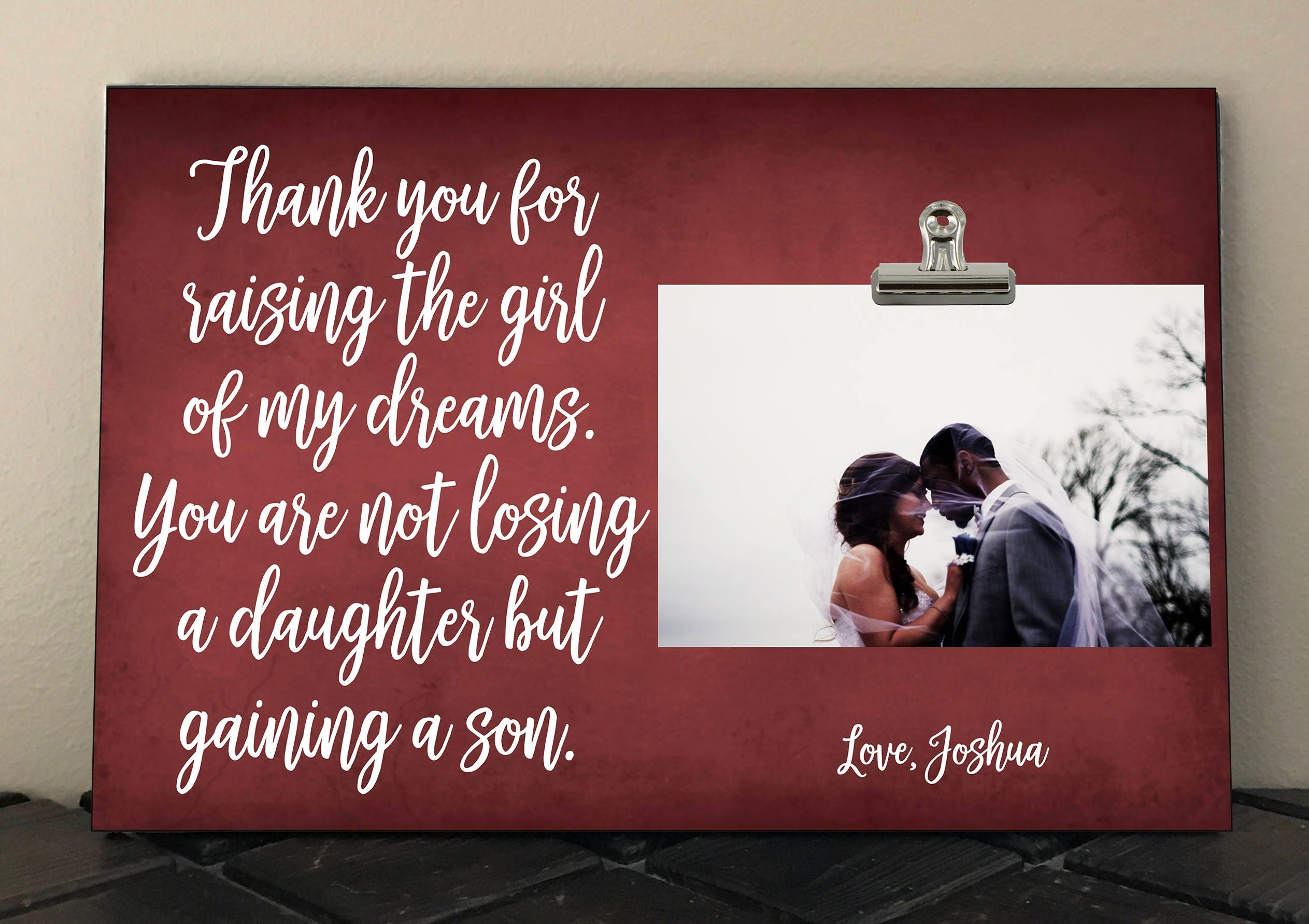 Wedding Gift For Parents Mother Father Of Bride From Groom