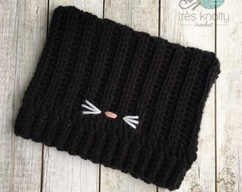 Black kitty hat, black cat hat,cat ears hat, kitty hat