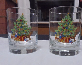 Christmas Tree and Toys Glasses