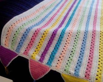 Single bed size crochet blanket