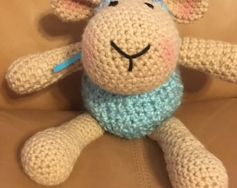 Sheep amigurumi Sheep plushie Sheep stuffed animal Easter Sheep light blue