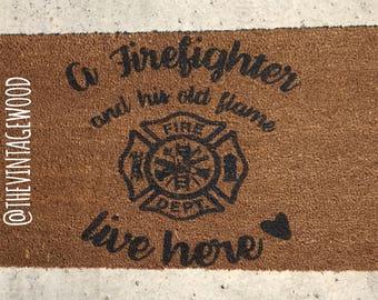 Firefighter Door Mat