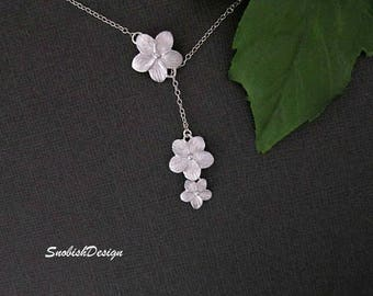 Flower Necklace, Daisy Necklace, Minimal Necklace, Dainty Necklace, Delicate Necklace, Bridesmaid Necklace, Bridal Necklace, Wedding Jewelry