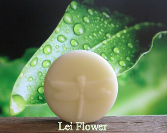 Lei Flower Organic Solid Lotion Bar 100% Natural Pocket Size