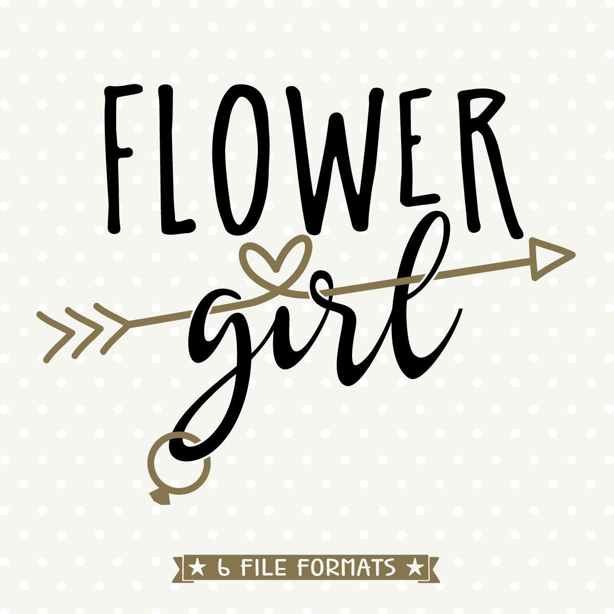 Flower Girl Cuttable Diy Bridal Party Gifts Flower Girl Svg