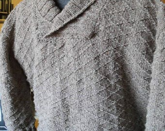 Beige Tweed Sweater