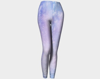 Blue Heaven Watercolor Printed Leggings