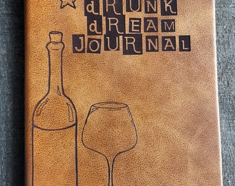 Drunk Dream Journal (small brown)