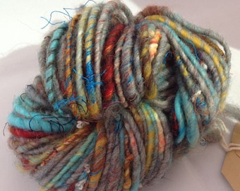 GRAIN Corespun Handspun Art Yarn super soft Bulky Merino mixed with others luxury fibres 54g 40 metre 44 yards