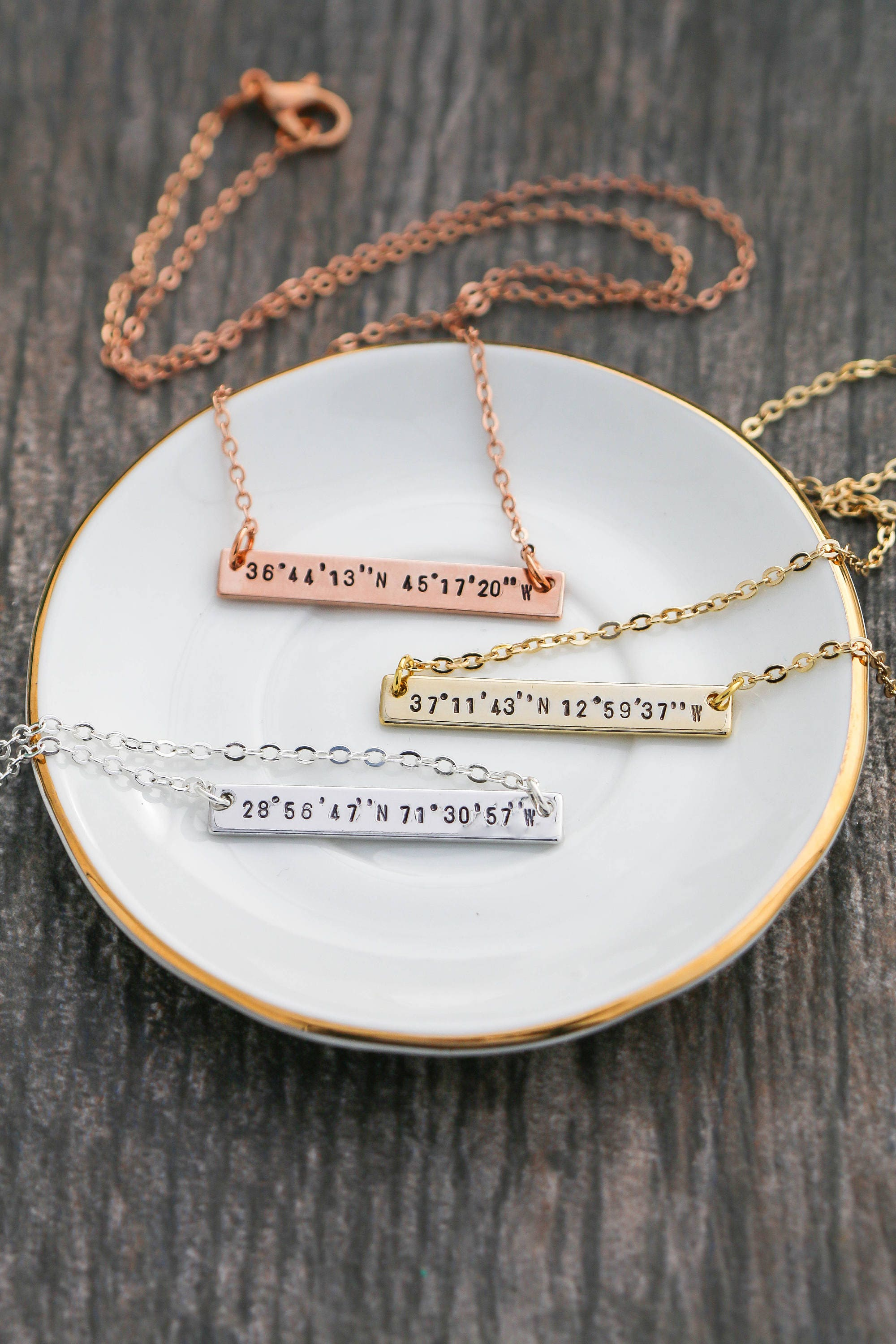coordinate stella dot engraved necklace engravables gold rings shop necklaces clover signature engravable bracelets