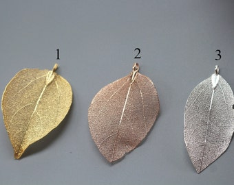 10 pcs Natural Leaves Charms Pendents,Gold Plated Leaf Charms, Leaf Jewelry, leaf Charms
