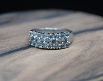 1.27ct aquamarine sterling silver ring