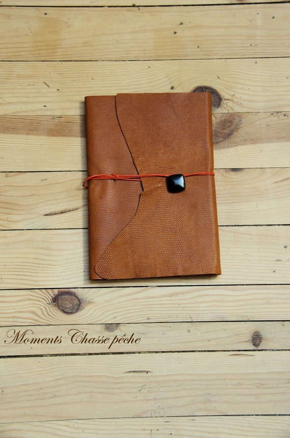 """Hunt hunting cognac leather notebook""""nature""""Huntress Hunter hunting hunting dogs hunt hunting wood"""