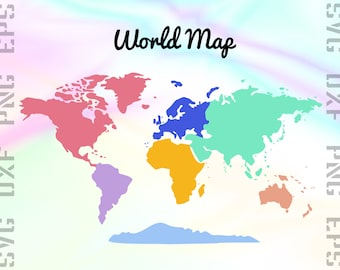 World map clipart etsy world map svg files world map dxf files continent clipart gumiabroncs Choice Image