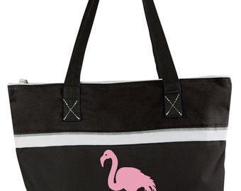Canvas Beach Bag, Don't Give A Flock, Flamingo Beach Tote, Canvas Tote Bag, Custom Beach Bag, Funny Tote Bag, Diaper bag, Flamingo Bag, Gift