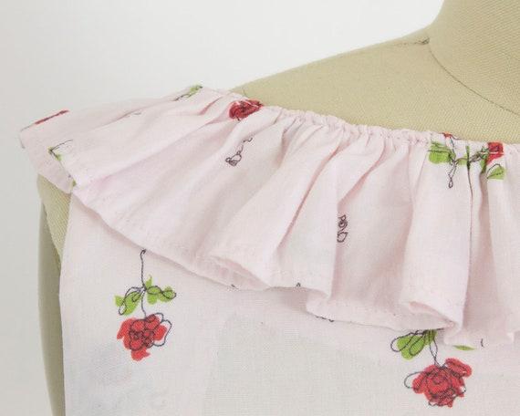 Large Print Dress Cotton 30W 38B Rose 1950s xZqOII
