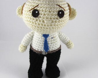 Amigurumi Business Man - Crochet Doll - Allan the Stressed Business Man Crochet Toy - Office Worker Gift - Gift for Him - Crochet Doll OOAK
