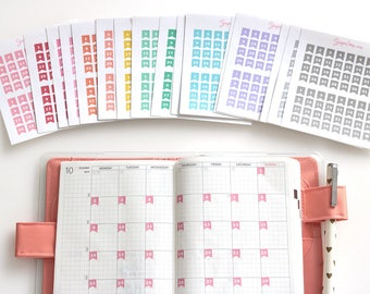 Mini Date Flags, Planner Stickers, Bullet Journal Stickers, Date Covers, Calendar Numbers, 1-31, Day Numbers, Day of The Month, DAT11