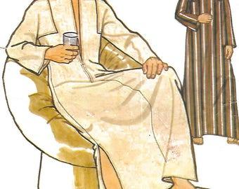 """Vintage Men's Sewing Pattern Caftan Kaftan Medium 38""""-40"""""""