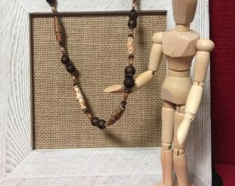 Metallic paper bead necklace