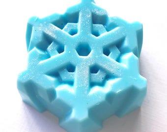 Snowflake Artisan Soap | Shea Butter | Holiday Gift Item | Christmas | Natural | Vegan