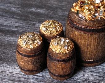 Miniature Treasure Barrel for Your Dollhouse