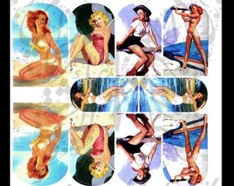 Pin Up Bikini Girls Nail Art Nail water Decals