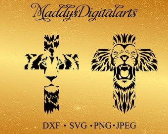 Lion of Judah Cross Svg, Dfx scripture svg, lion cross Jpg , png , svg , dxf , lion svg, Jesus svg, cross svg, Commercial use