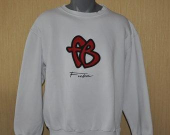 FUBU sweatshirt, vintage longsleeve sweat shirt of 90s hip-hop clothing, 1990s hip hop shirt, OG, gangsta rap, hoodie, size XL