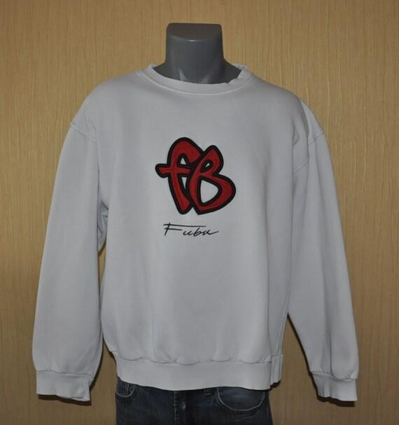FUBU sweatshirt, vintage longsleeve sweat shirt of 90s hip-hop clothing, 1990s hip hop shirt, OG, gangsta rap, hoodie, size S Small