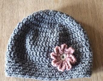 Crochet Hat Pattern Graceful Grey